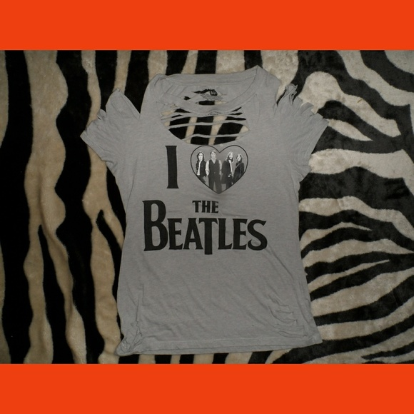 The Beatles Tops - The Beatles Hand Cut T-Shirt One Of A Kind